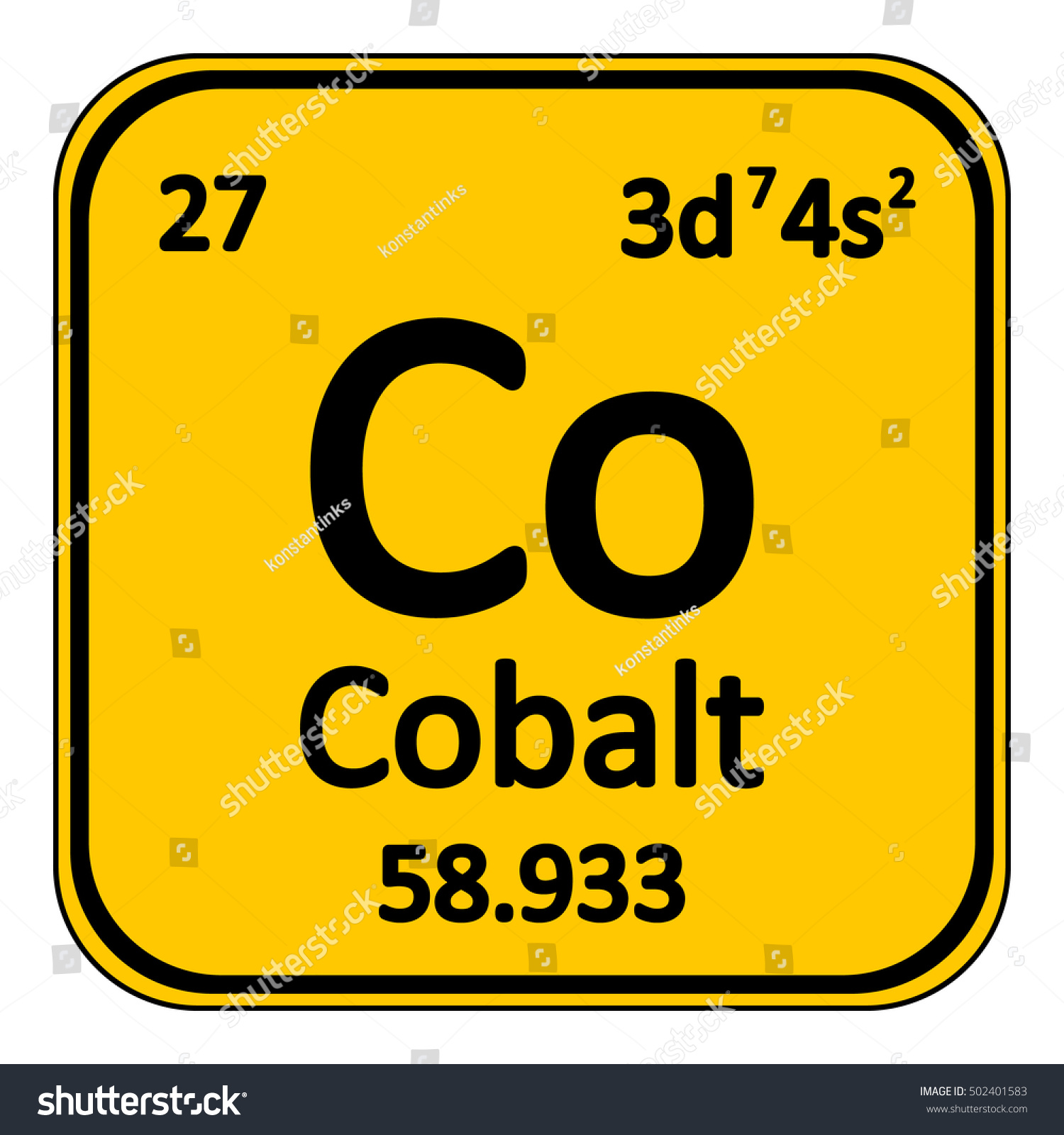 Periodic table element cobalt icon on stock vector 502401583 periodic table element cobalt icon on white background vector illustration gamestrikefo Image collections