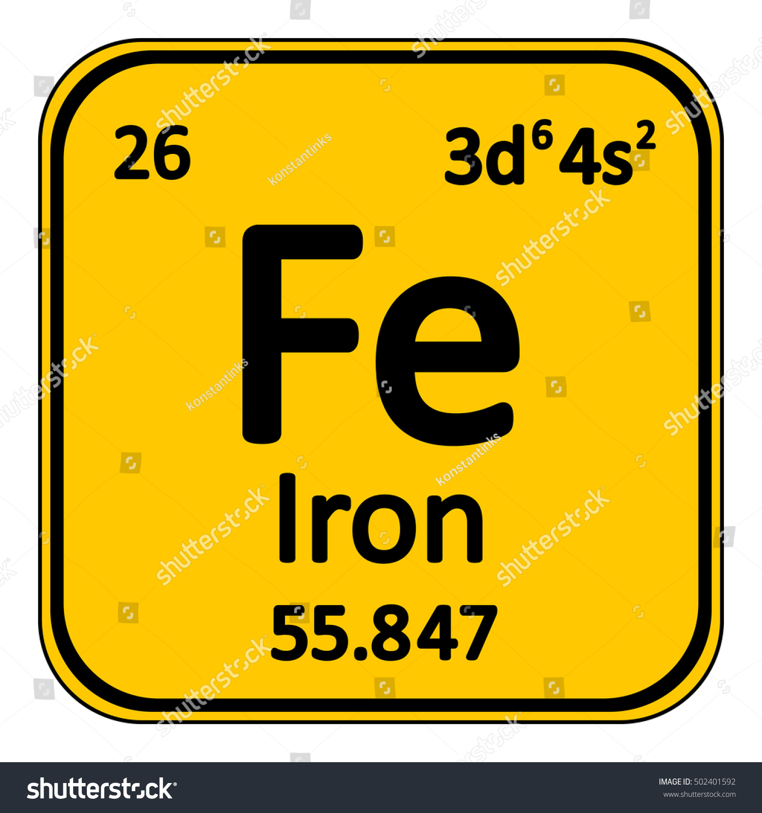Periodic table element iron icon on stock vector 502401592 periodic table element iron icon on white background vector illustration gamestrikefo Choice Image