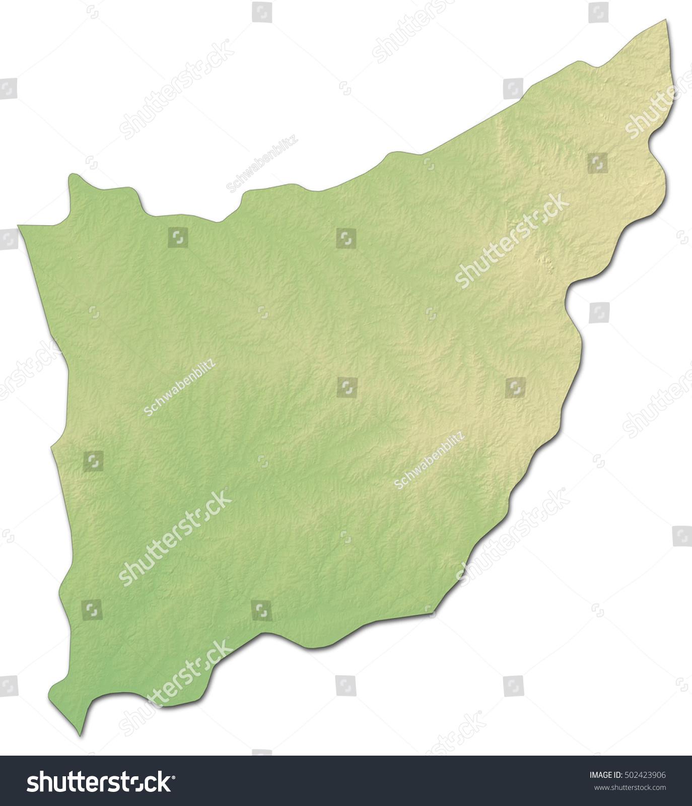 Relief Map Florida Uruguay Drendering Stock Illustration - Uruguay relief map