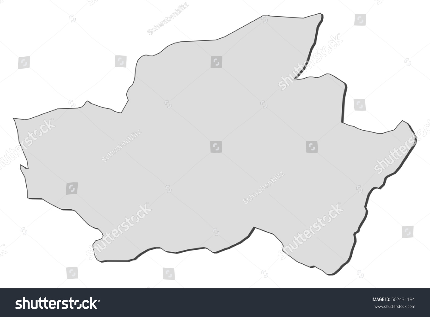 Map Braga Portugal Stock Vector 2018 502431184 Shutterstock