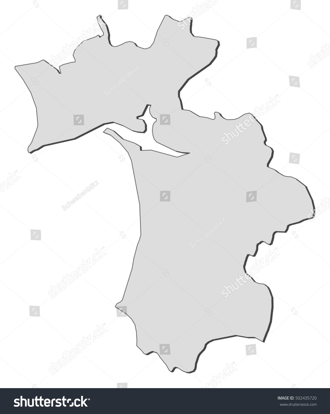 Map Setubal Portugal Stock Vector 502435720 Shutterstock