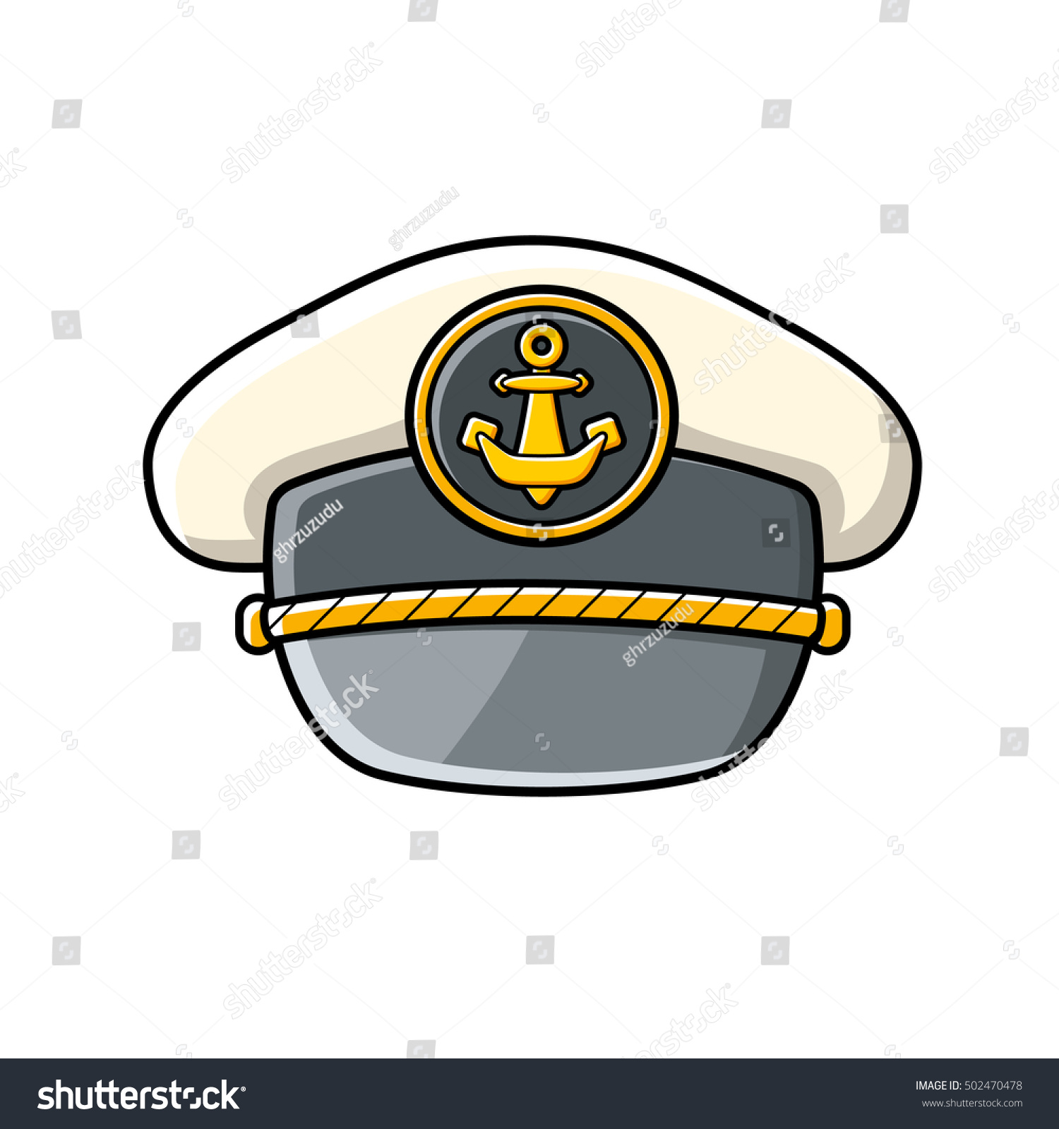Captain Cap Icon Isolated Stock Vector (Royalty Free) 502470478