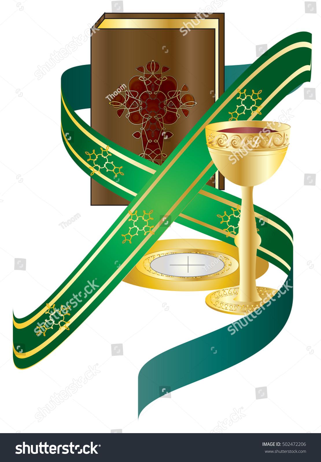 Holy Orders Sacrament Religious Vector Illustration Stock Vector