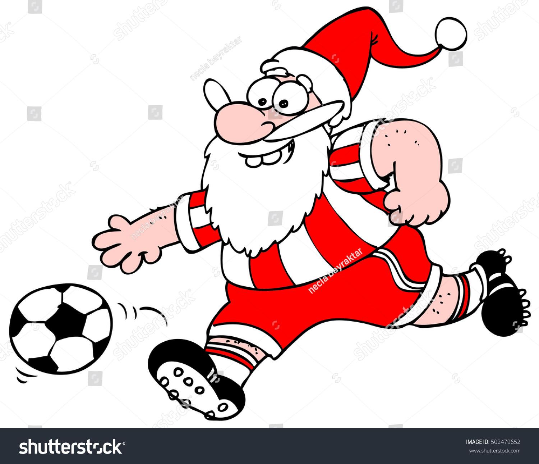 Santa claus footballer stock vector shutterstock