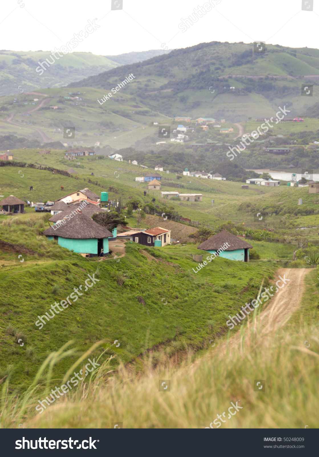 Rural Settlement South Africa Stock Photo 50248009
