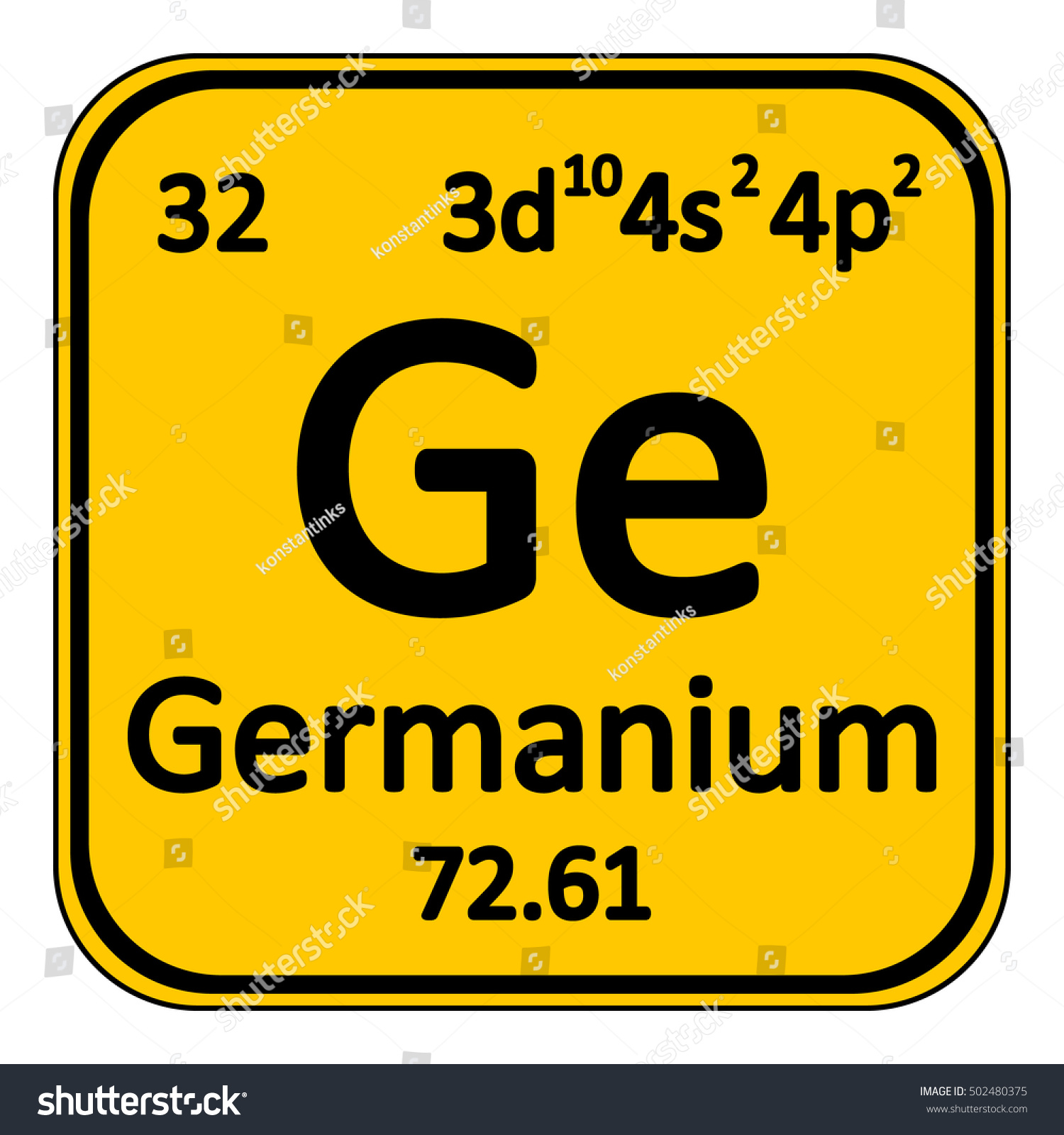 Periodic table element germanium icon on stock vector 502480375 periodic table element germanium icon on white background vector illustration gamestrikefo Image collections