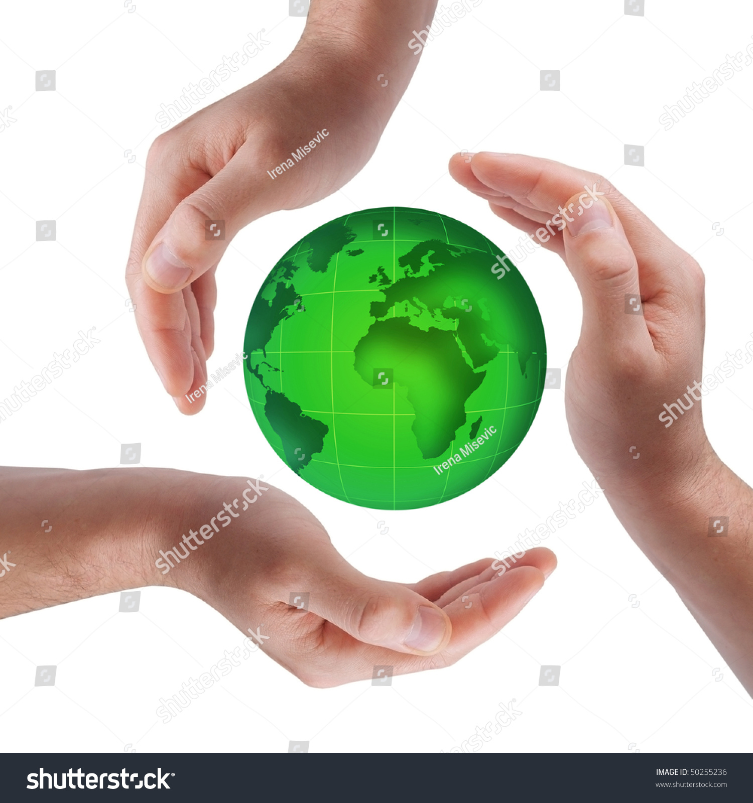 Conceptual safety symbol made hands over stock photo 50255236 conceptual safety symbol made from hands over globe biocorpaavc