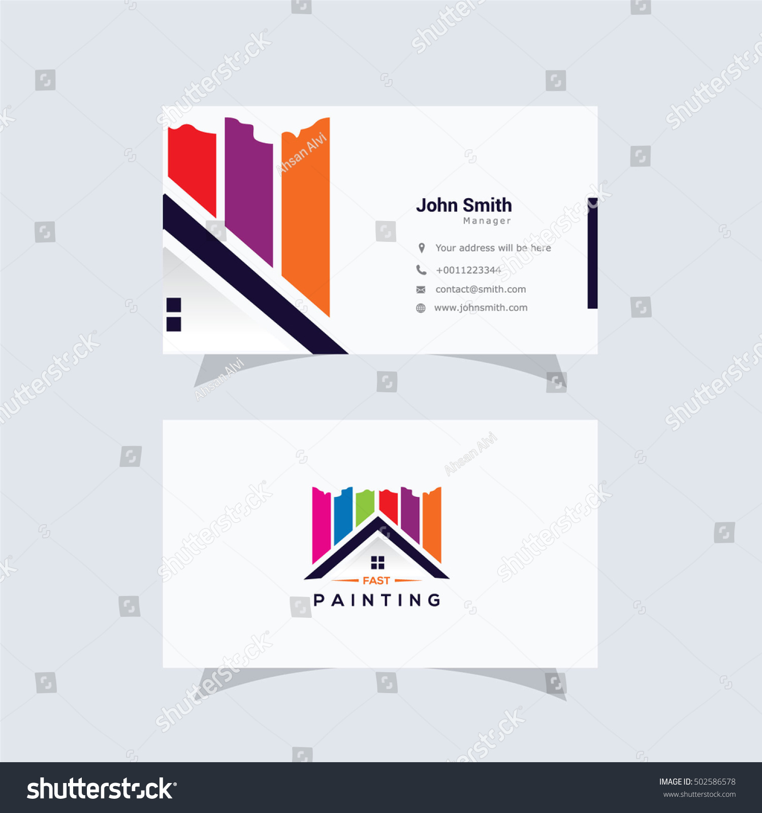 Paint Home Sign Icon Painting Tool Stock Vector
