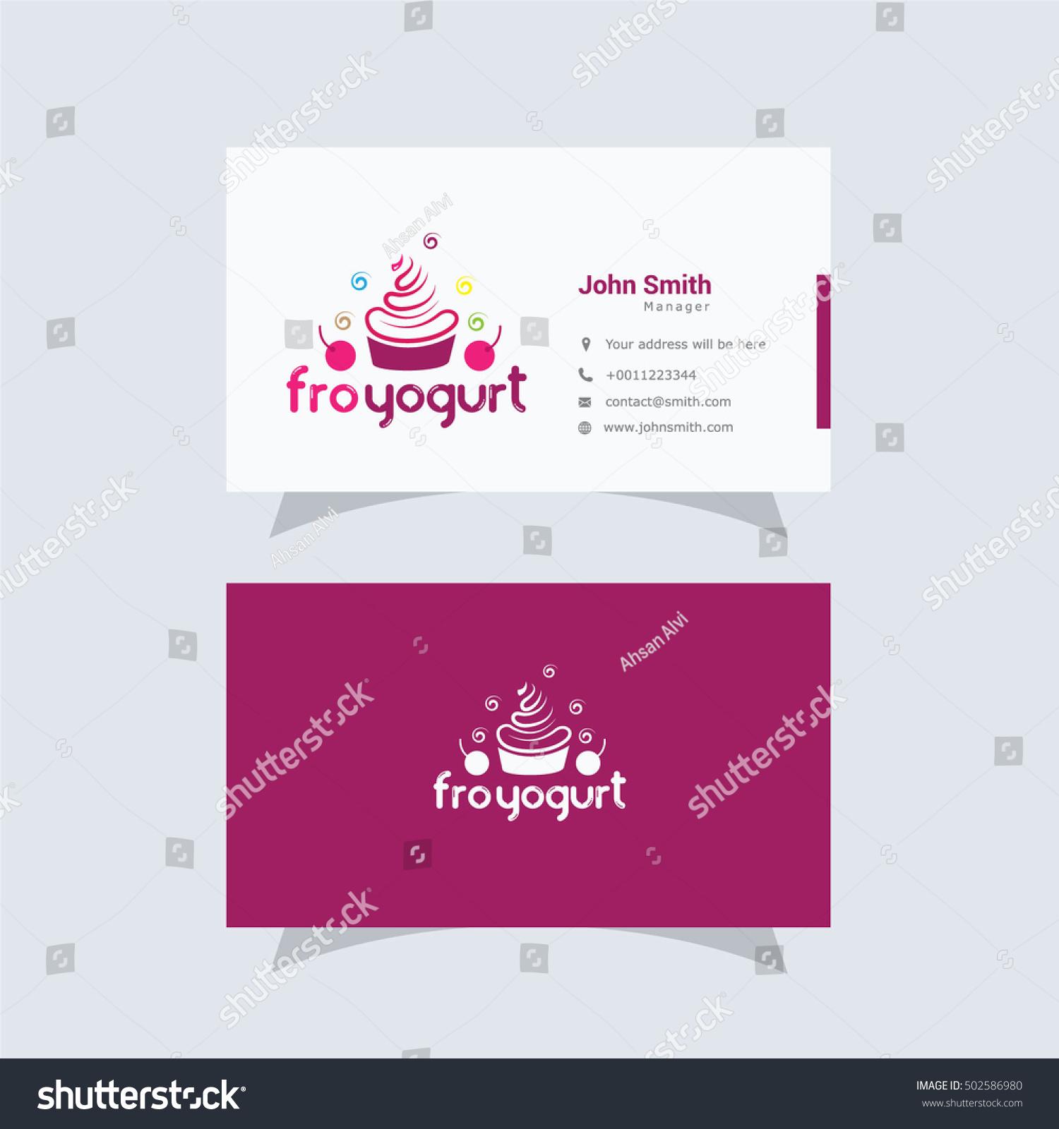 Cupcake logo ice cream yogurt vector stock vector 502586980 cupcake logo ice cream and yogurt vector design cupcake business card magicingreecefo Images
