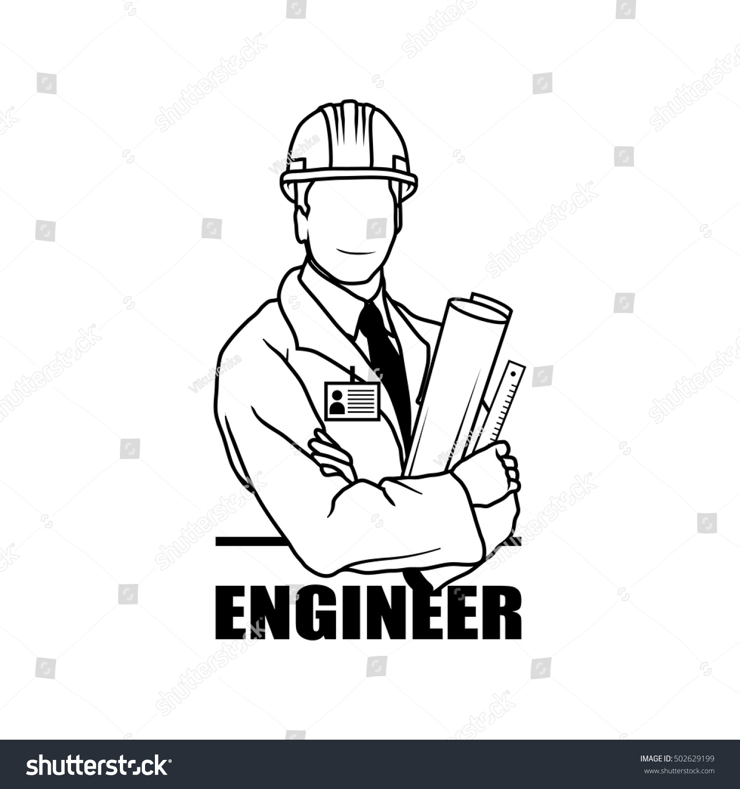 engineer drawing vector logo icon clipart stock vector royalty free