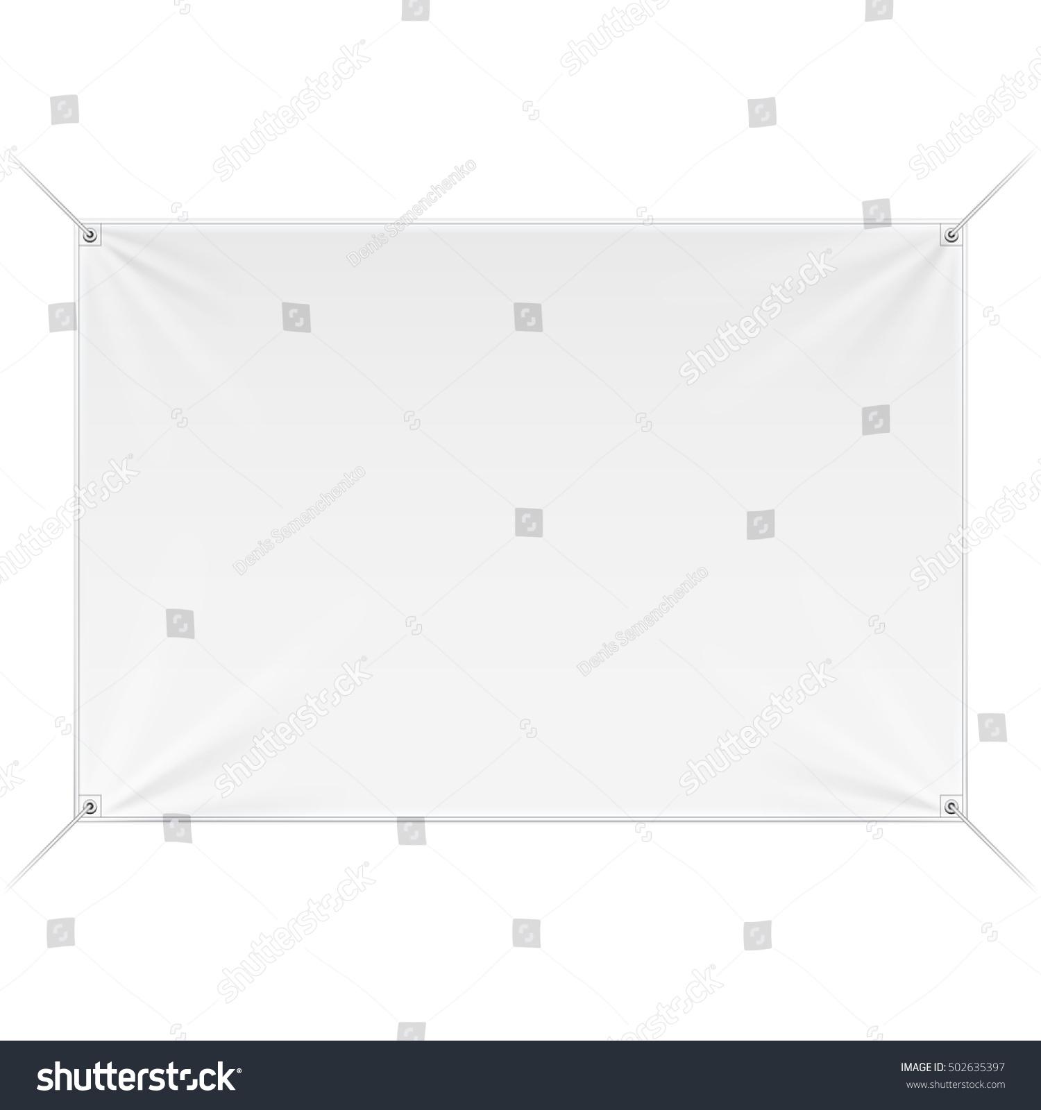 Fabric Wall Streamer Vinyl Flex Banner Stock-Vektorgrafik ...