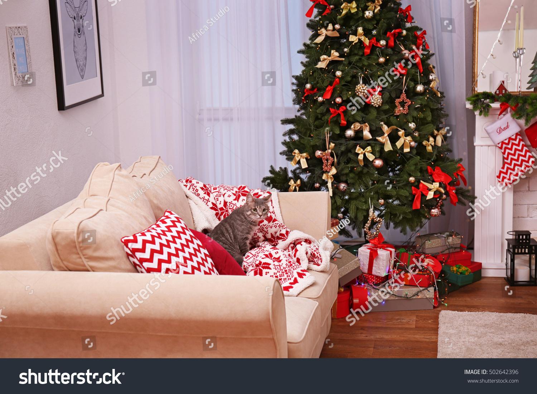 Interior Beautiful Living Room Decorated Christmas Stock Photo 502642396 Shutterstock
