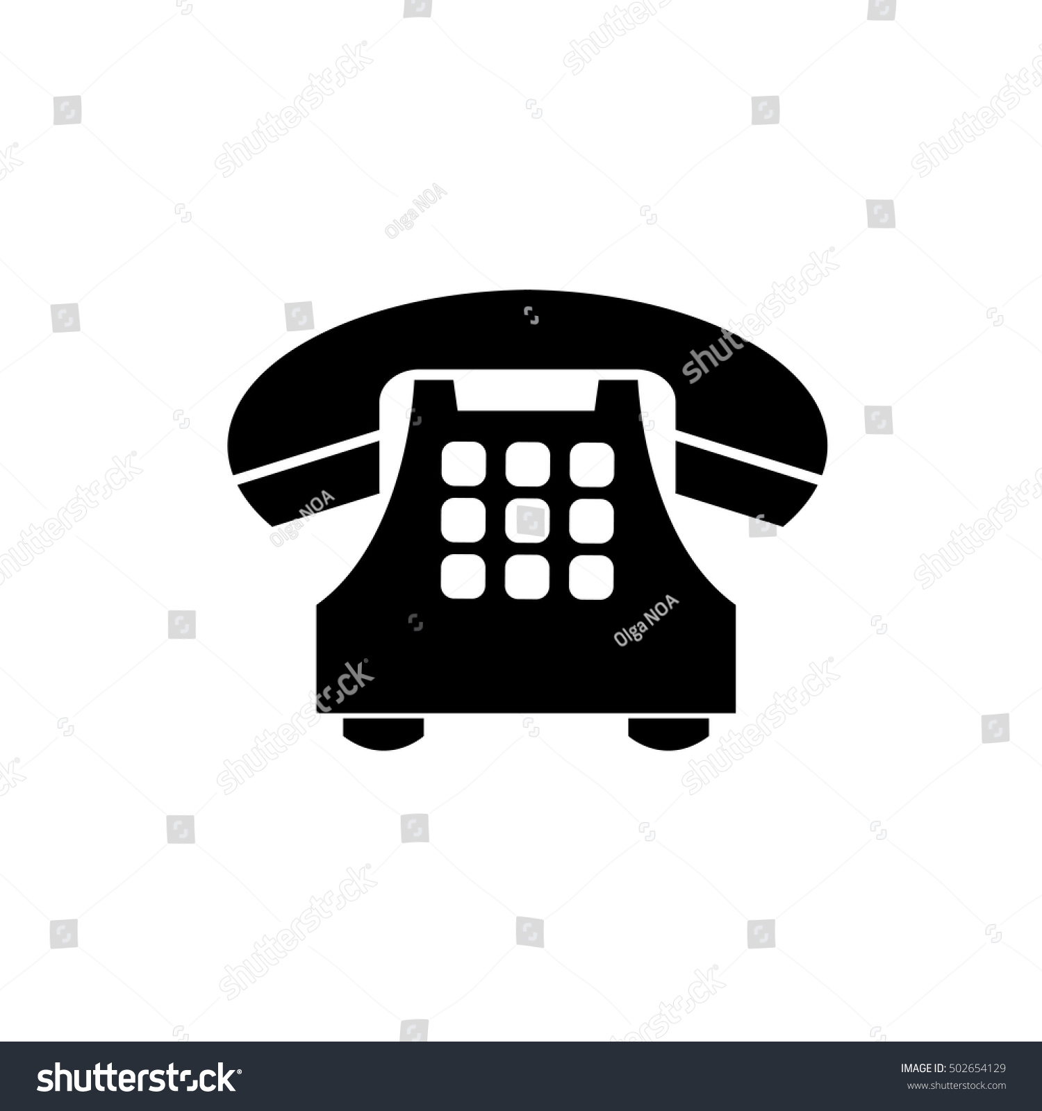 Phone Icon Trendy Flat Style Isolated Stock Vector Royalty Free