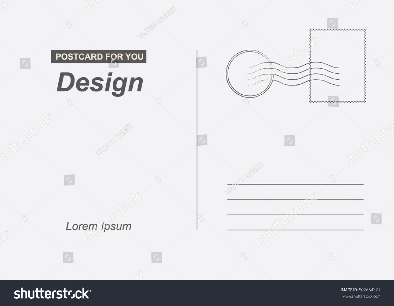 Postal Card Travel Vector Template Design Vector de stock (libre de ...