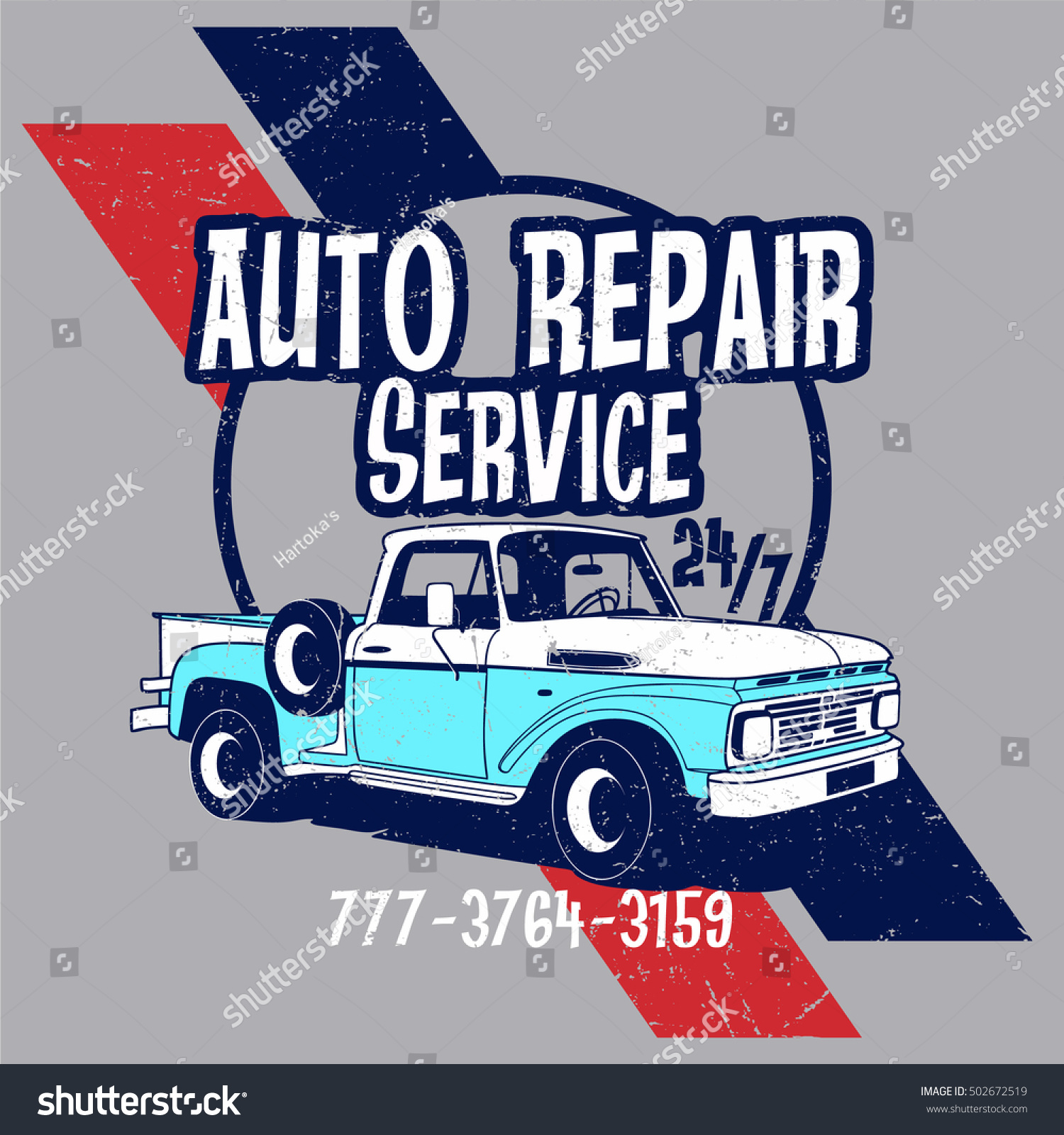 Auto repair service vector tshirt design stock vector for T shirt design service