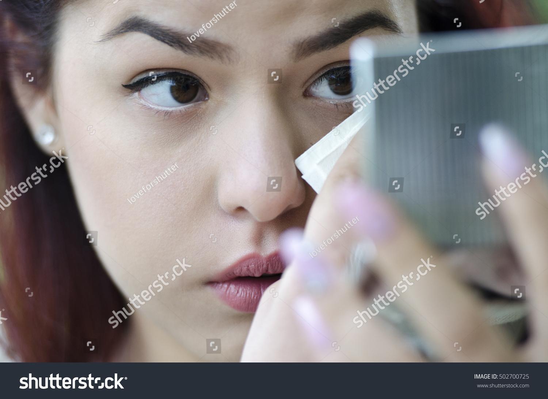 Cute Redhair Teen Looking Raised Eyebrows Stock Photo Edit Now