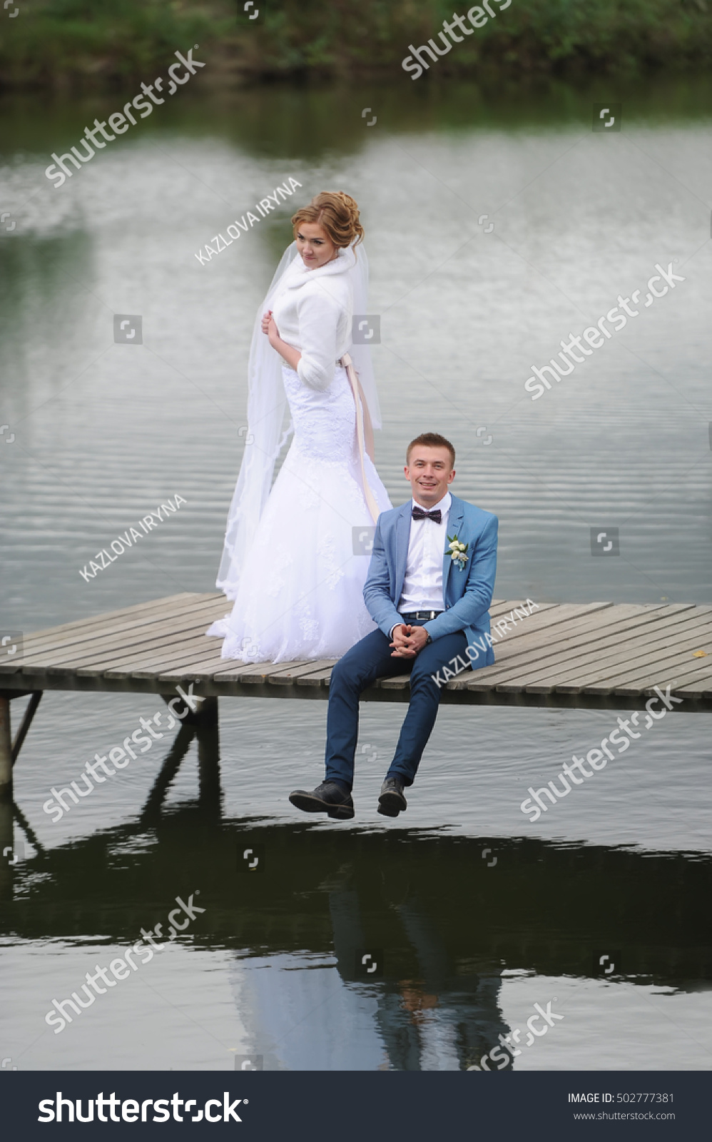 f829797f9c2970 Beautiful Young Wedding Couple Bride Groom Stock Photo (Edit Now ...