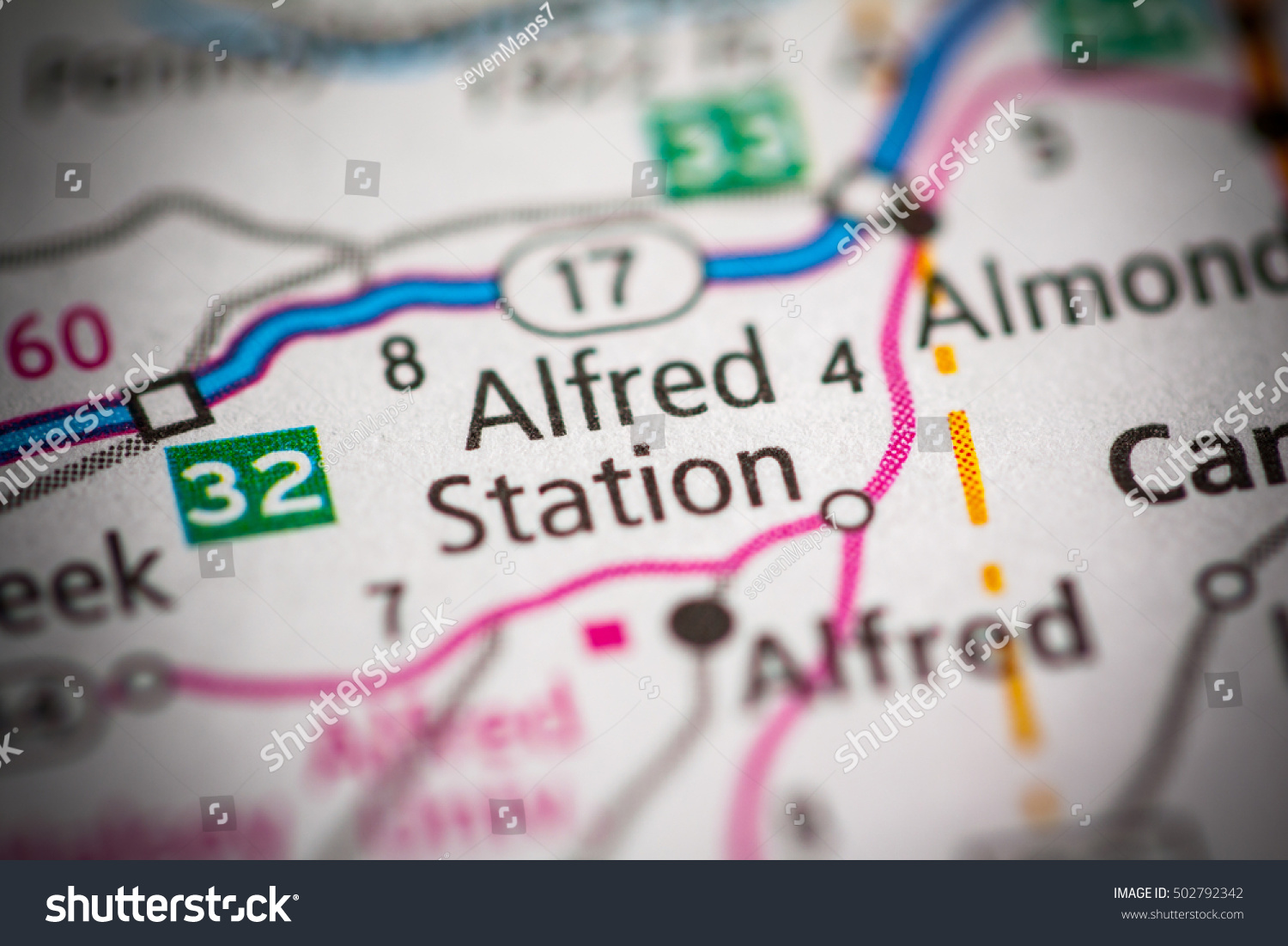 Alfred Station New York State USA Stock Photo (Edit Now ... on map of alfred maine, map of new yorl, map of luling texas,