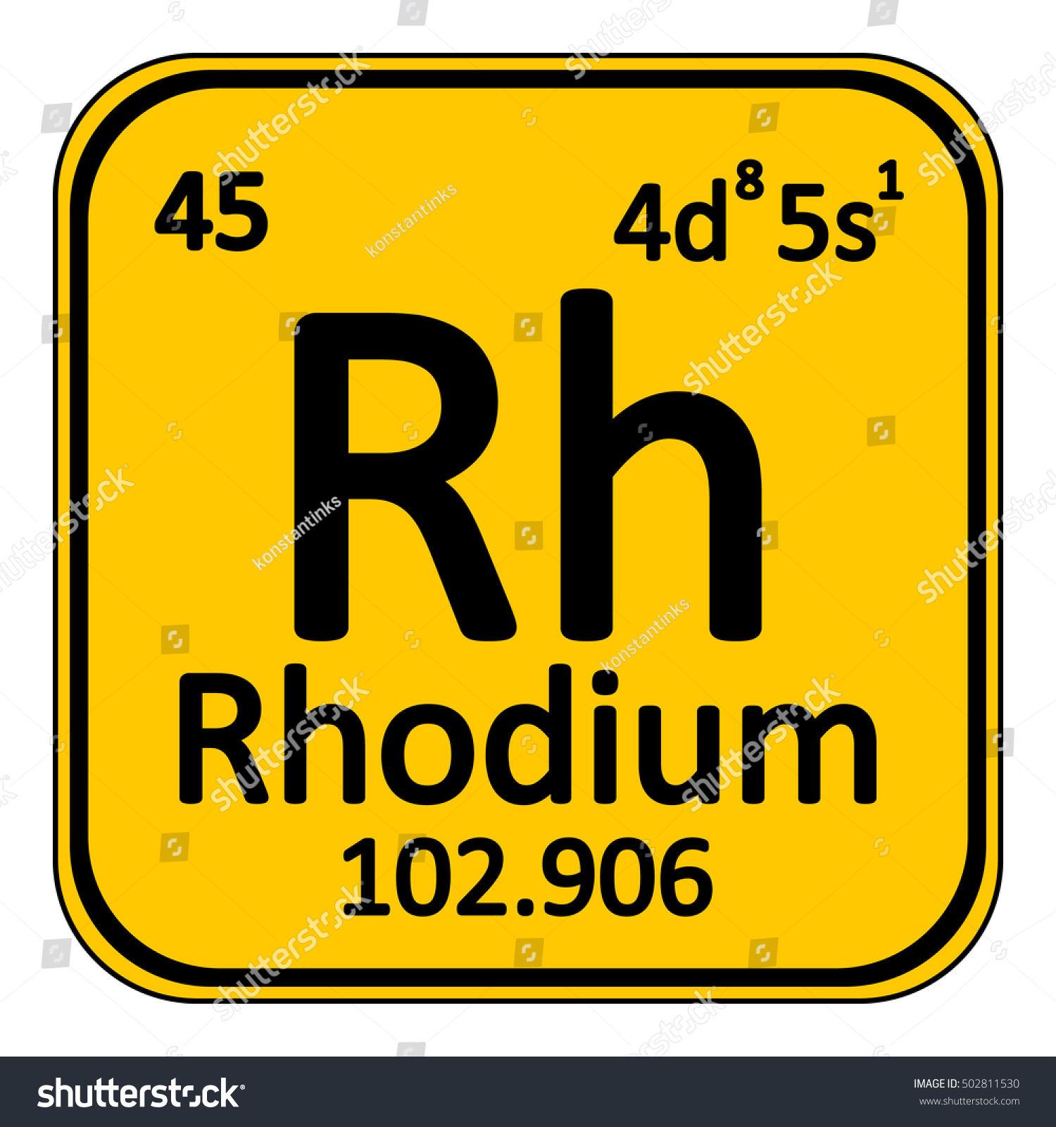 Rhodium on periodic table image collections periodic table images periodic table element rhodium icon on stock vector 502811530 periodic table element rhodium icon on white gamestrikefo Image collections