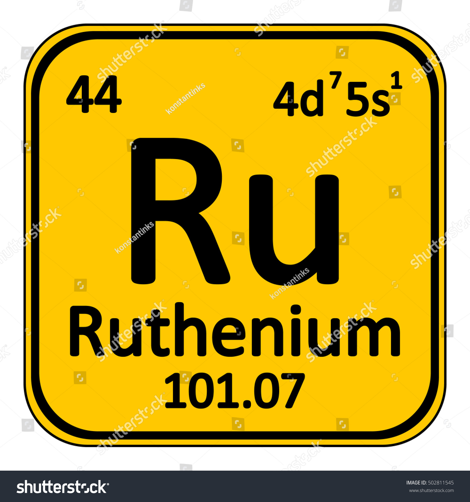 Periodic table element ruthenium icon on stock vector 502811545 periodic table element ruthenium icon on white background vector illustration gamestrikefo Choice Image