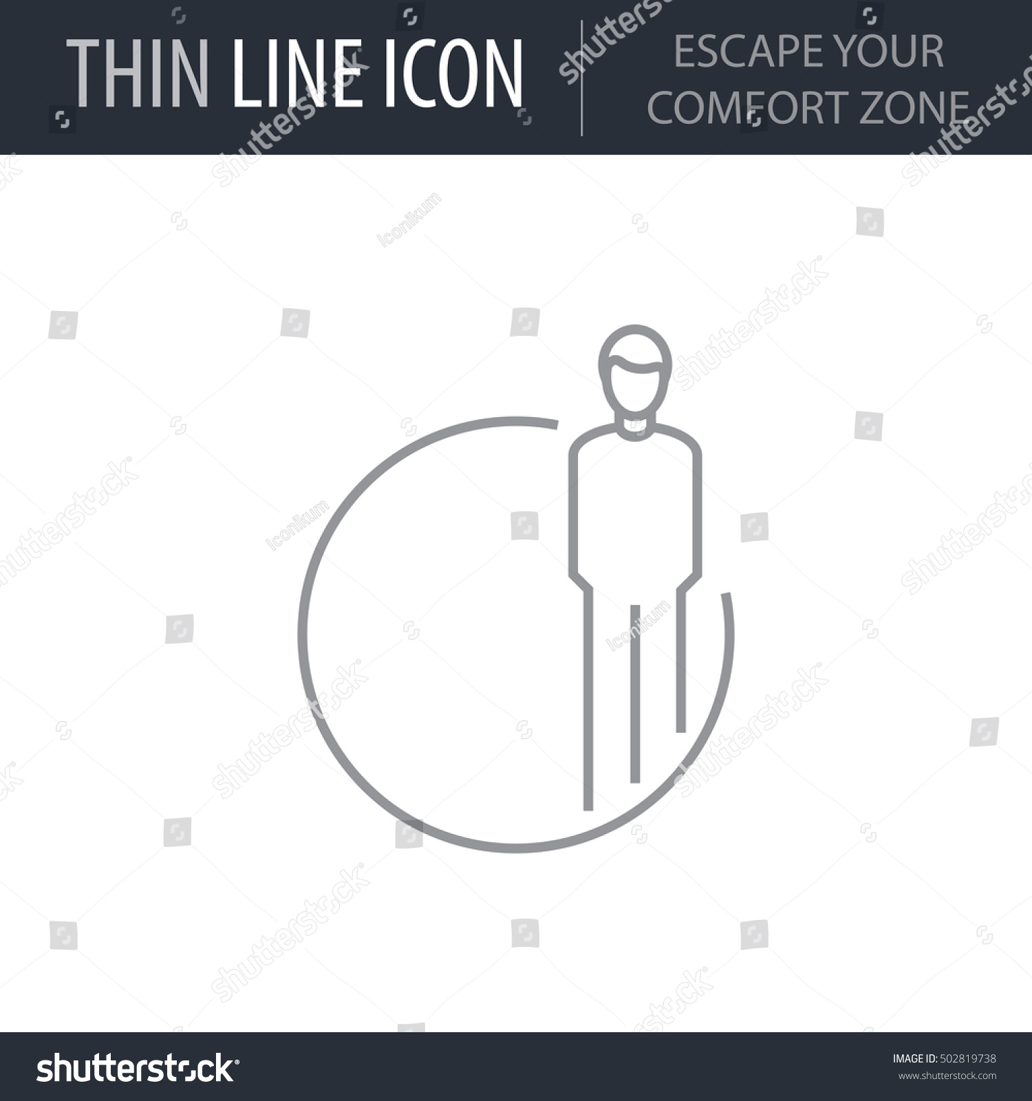 Symbol Escape Your Comfort Zone Thin Stock Vector Royalty Free