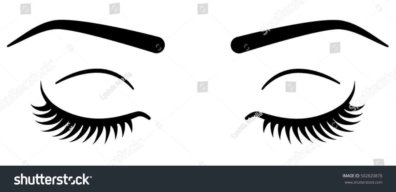 how to draw eyelashes on a closed eye
