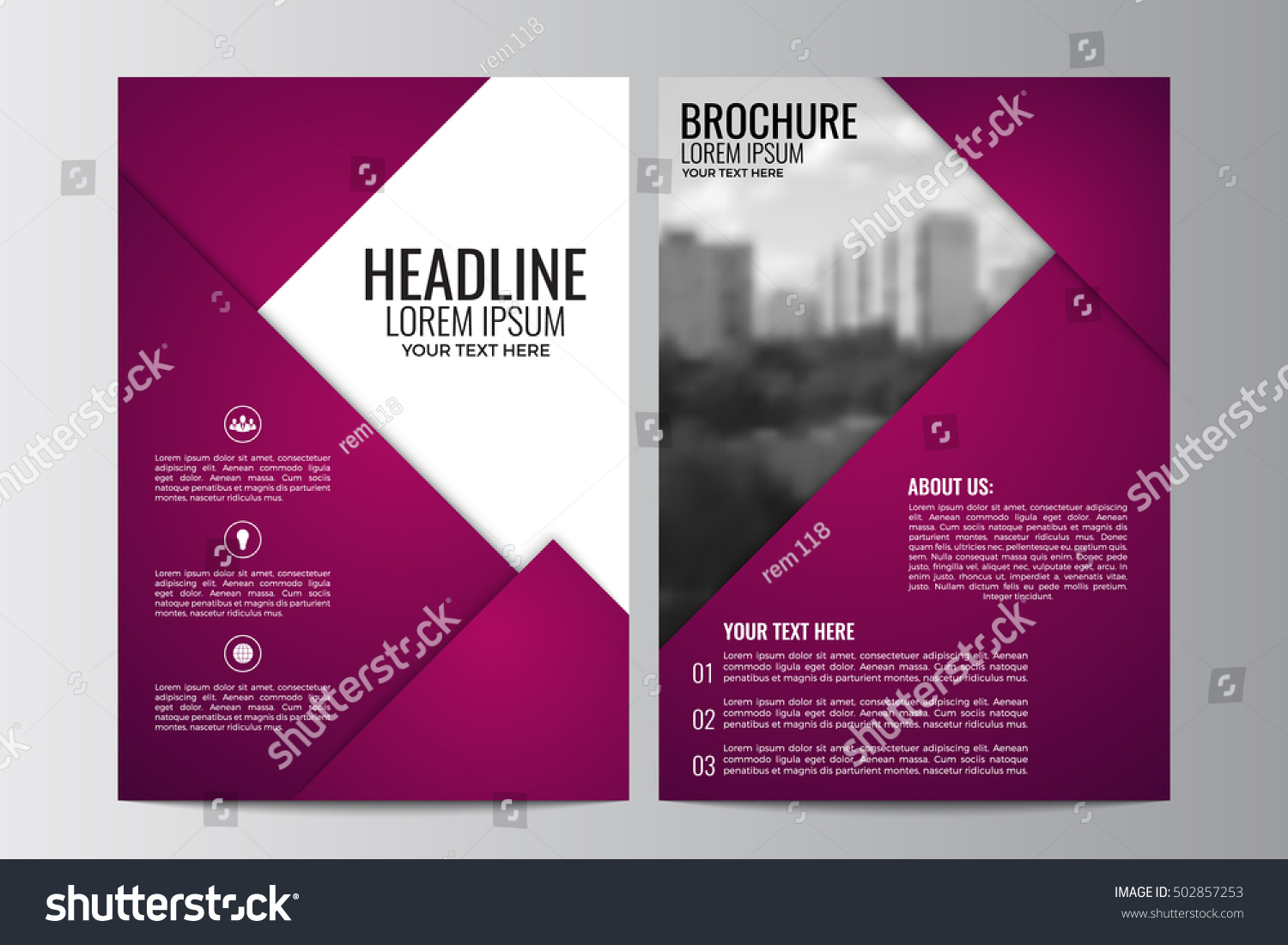 abstract flyer design background brochure template のベクター画像