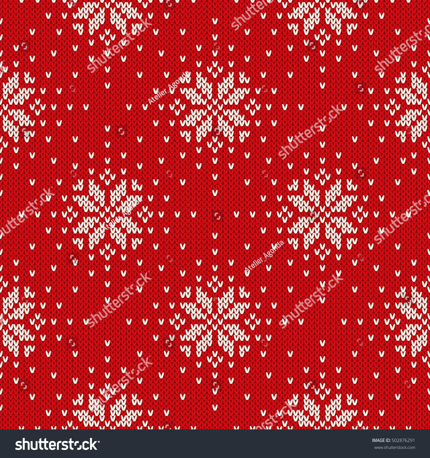 Winter Holiday Knitted Pattern Snowflakes Fair Stock Vector ...