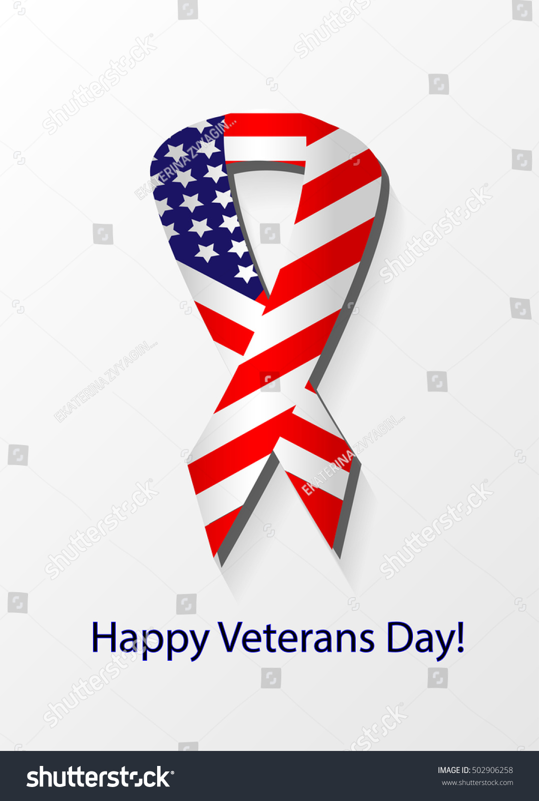 Thank You Day Veterans Day Greeting Stock Vector Royalty Free