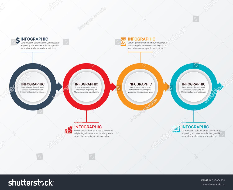conceptual site model template - vector circle infographic template diagram graph stock