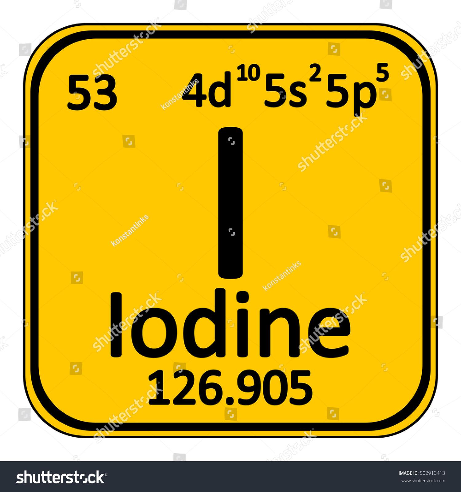 Periodic table element iodine icon on stock vector 502913413 periodic table element iodine icon on white background vector illustration gamestrikefo Gallery
