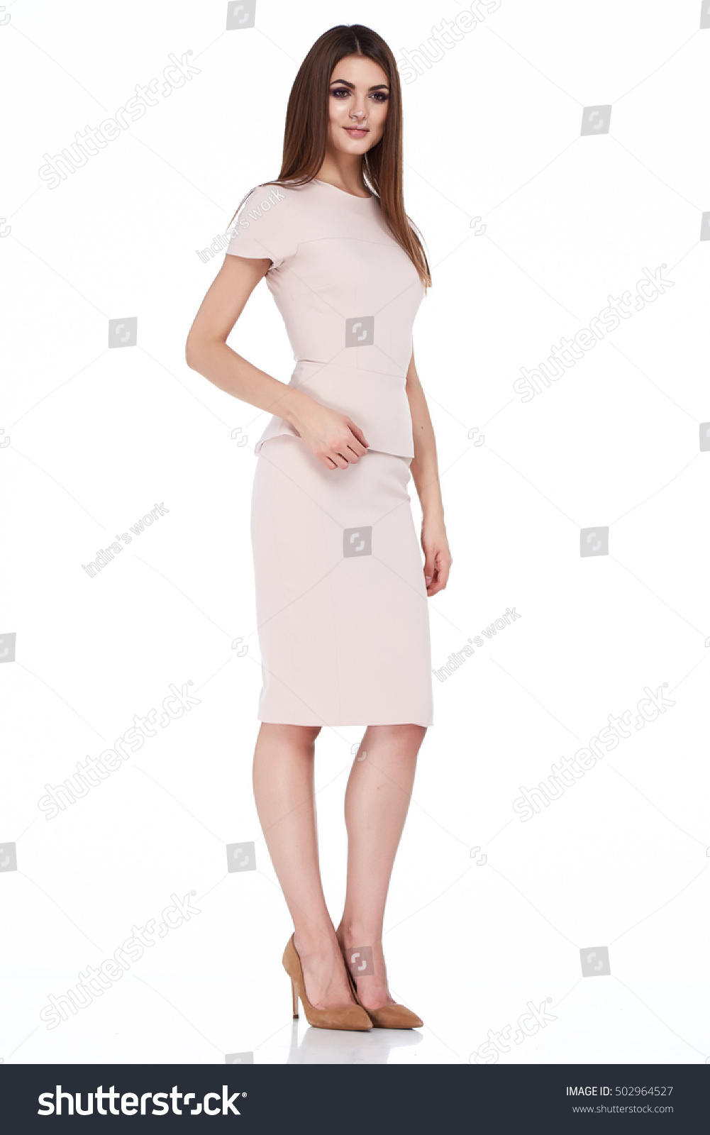 fashion style woman perfect body shape stock photo
