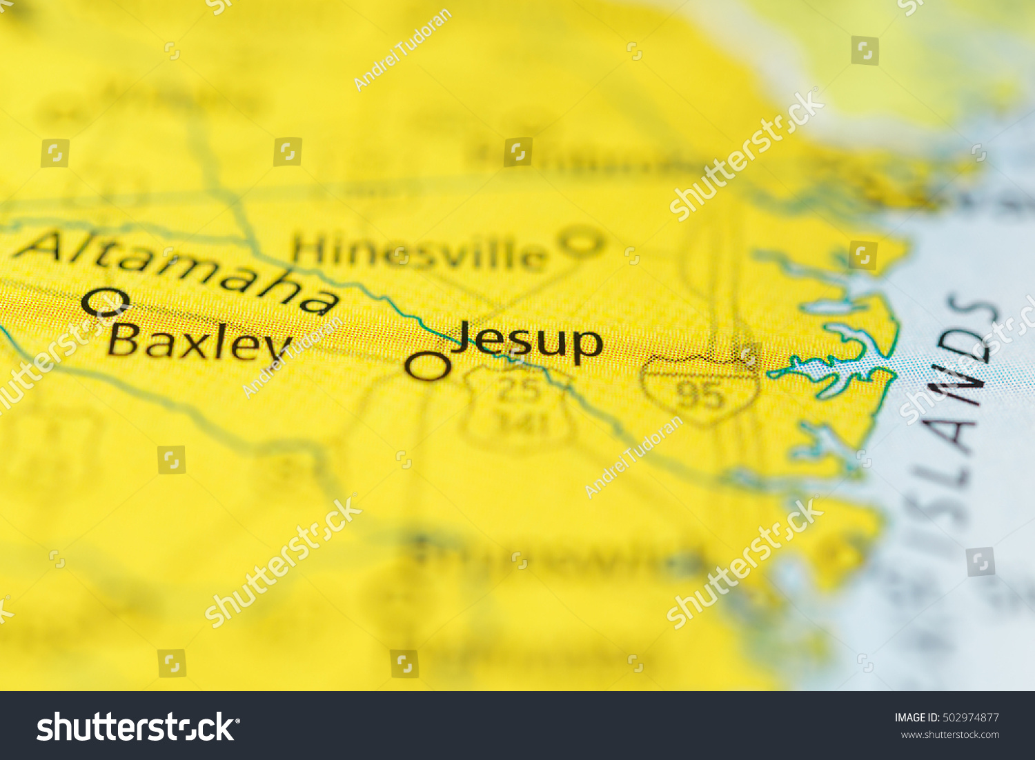 Map Of Jesup Georgia.Jesup Georgia Usa Stock Photo Edit Now 502974877 Shutterstock