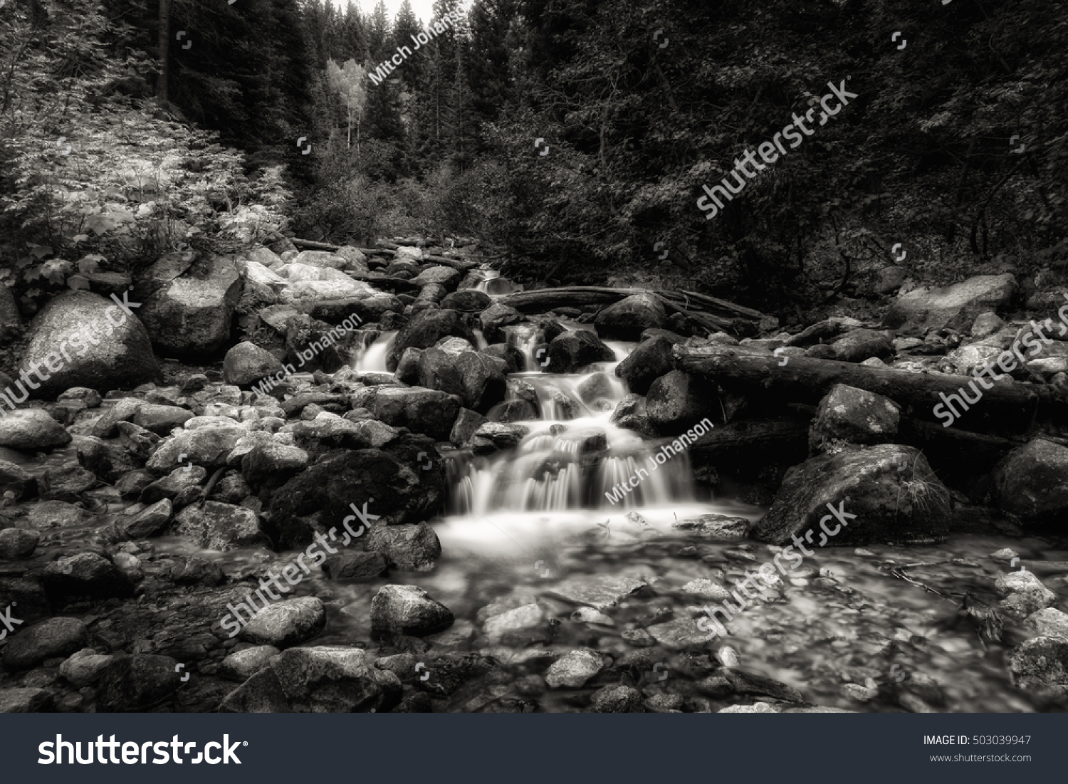 Slow Motion Waterfall Royalty Stock Image