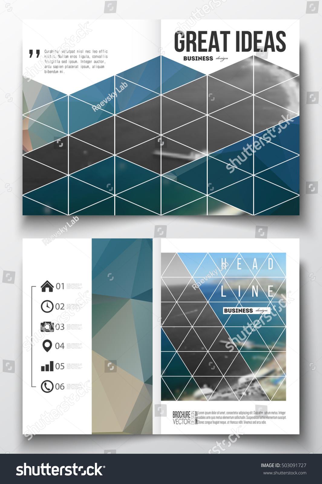 Set Business Templates Brochure Magazine Flyer Vector de ...