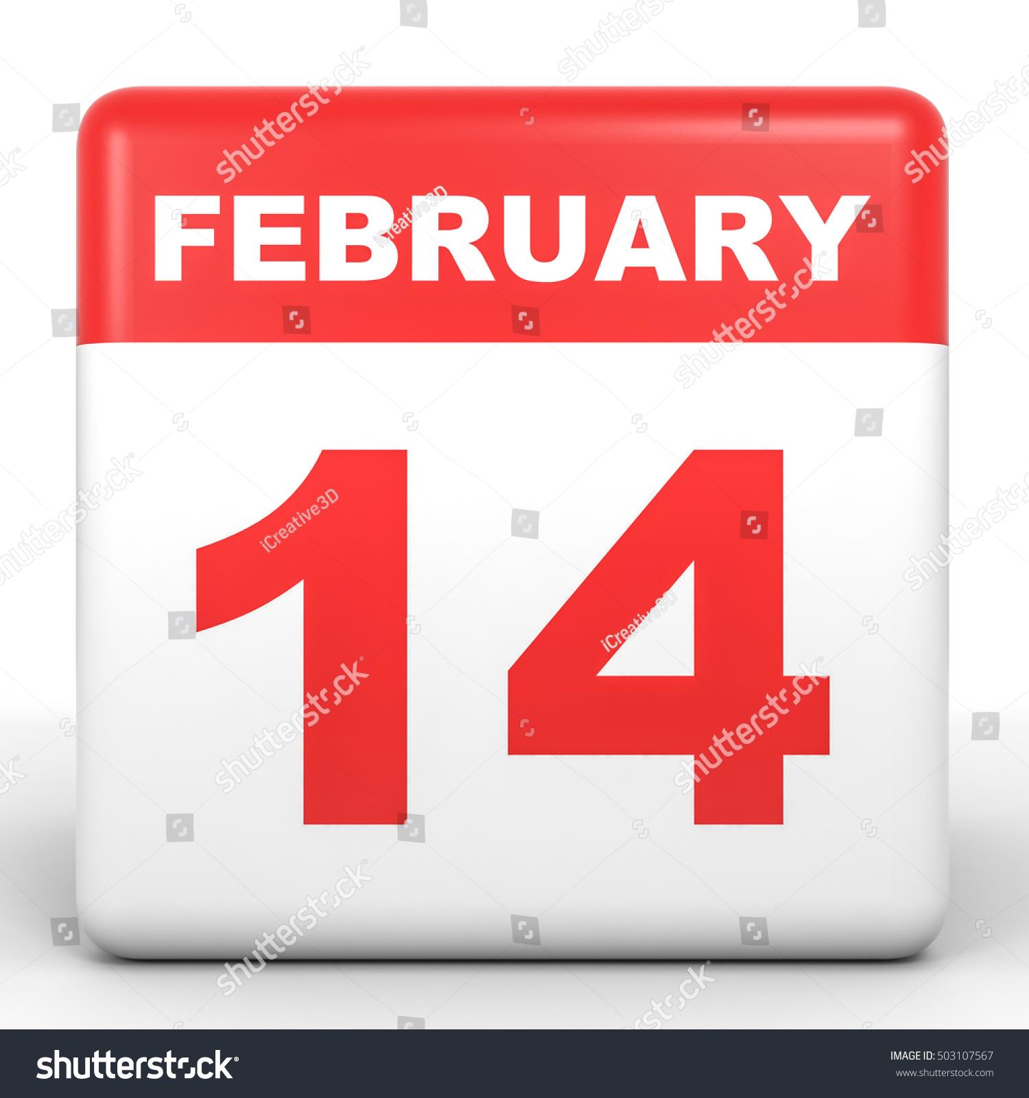 February Calendar Illustration : February calendar on white background stock