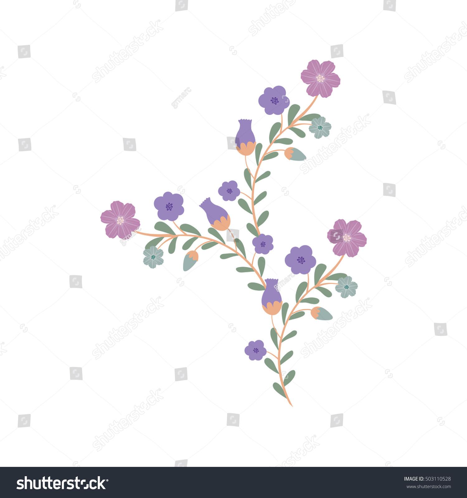 Beautiful Flowers Design Stock Vector Royalty Free 503110528