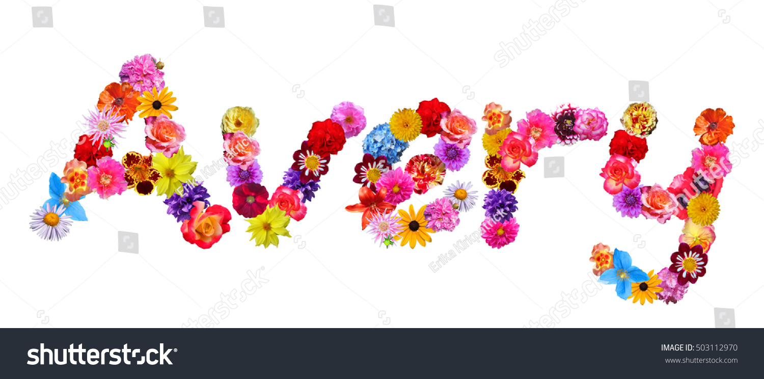avery floral name stock photo edit now 503112970 shutterstock