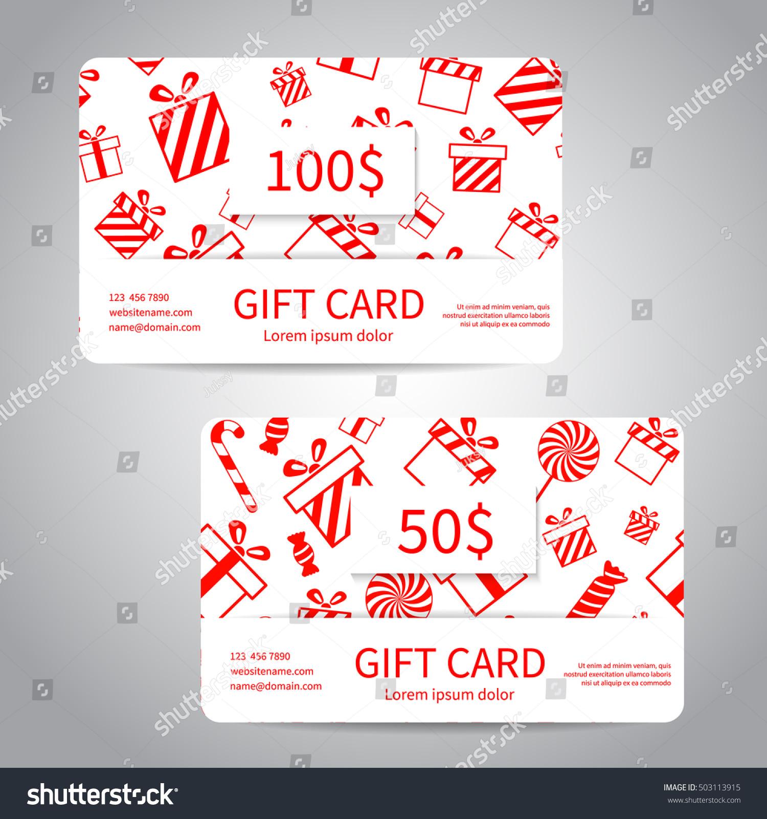 Coupon christmas cards