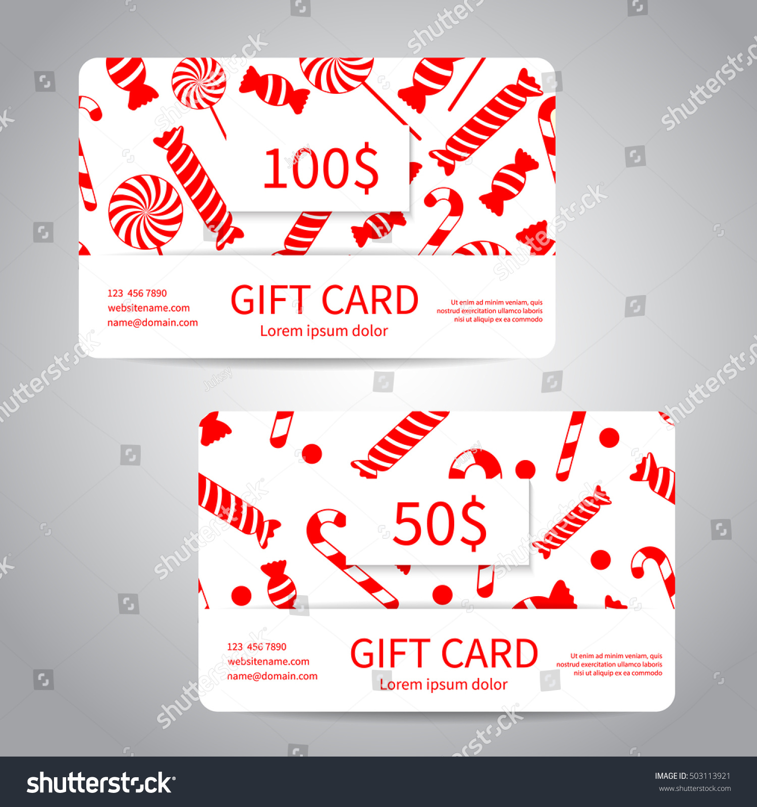 merry christmas gift card or discount card set with red gift boxes candies lollipops - Christmas Gift Card Deals