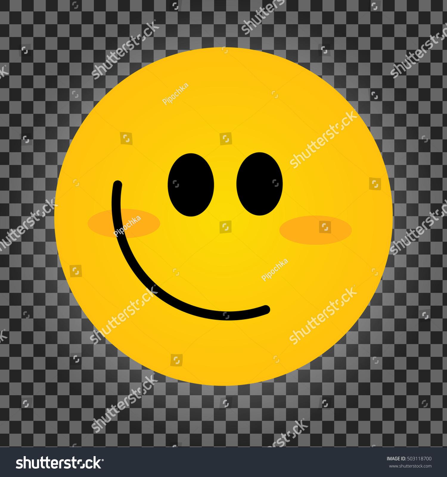 Smiley Vector Happy Face Smiling Emoticon Stock Vector