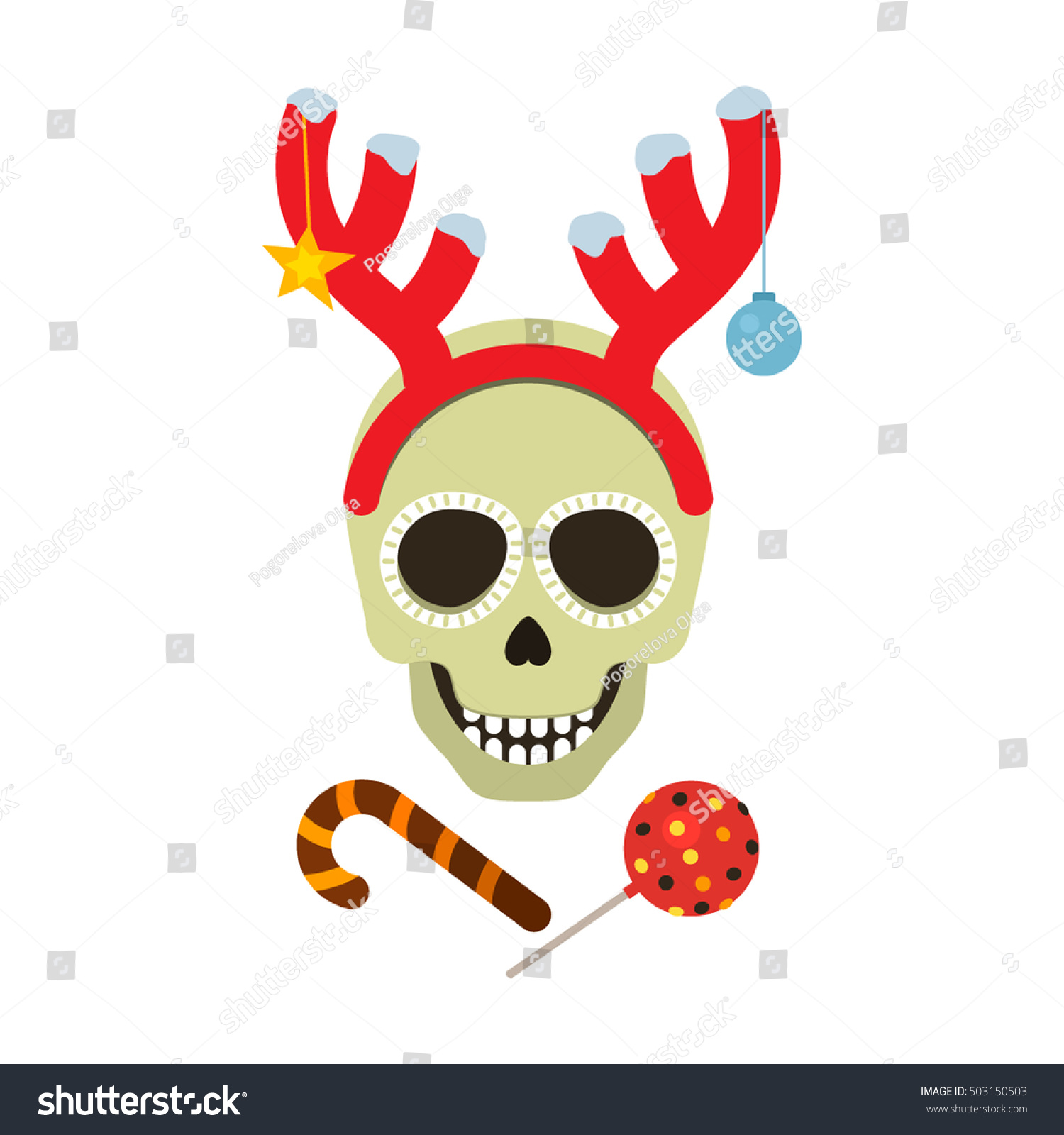 Festive Print On Halloween Christmas Card Stock Vector (Royalty Free ...