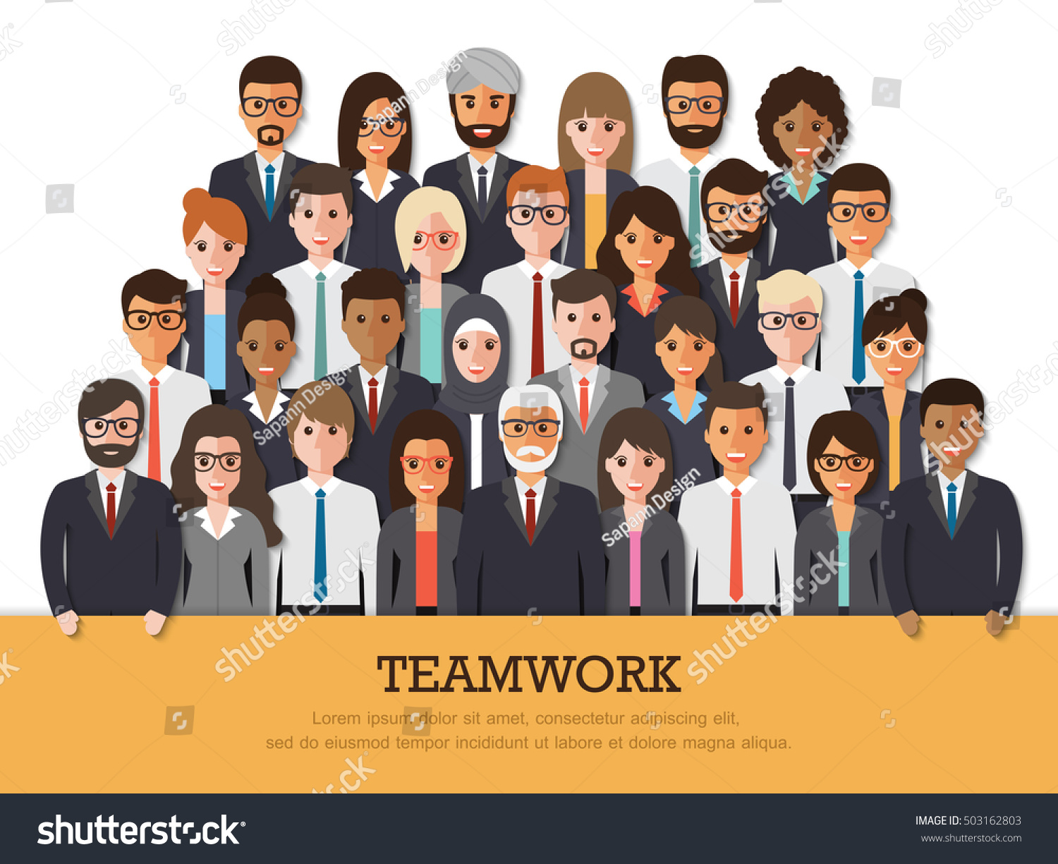 Group Businessman Businesswoman People Work Teamwork Stock ...