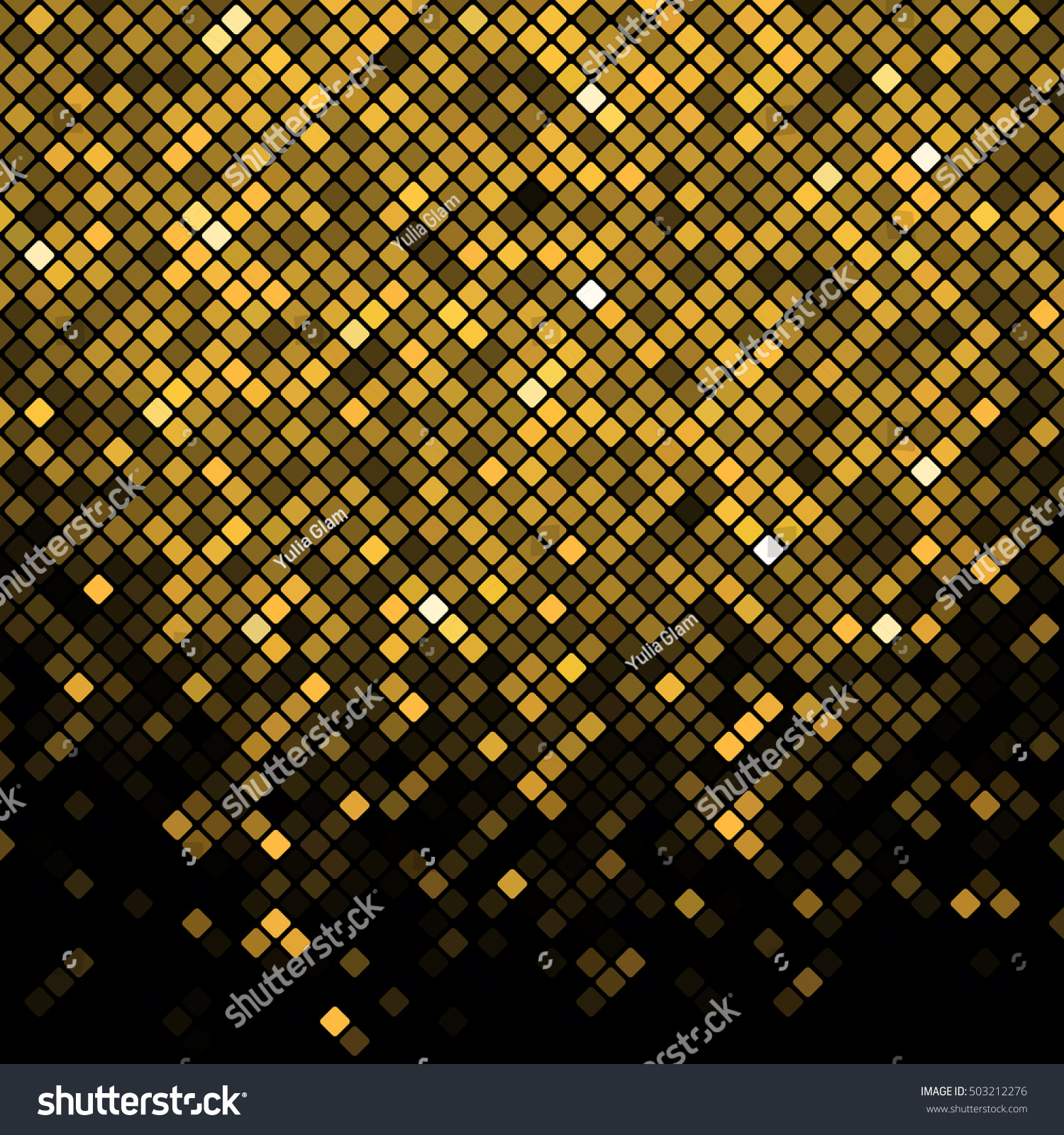 vector black gold mosaic background stock vector royalty free