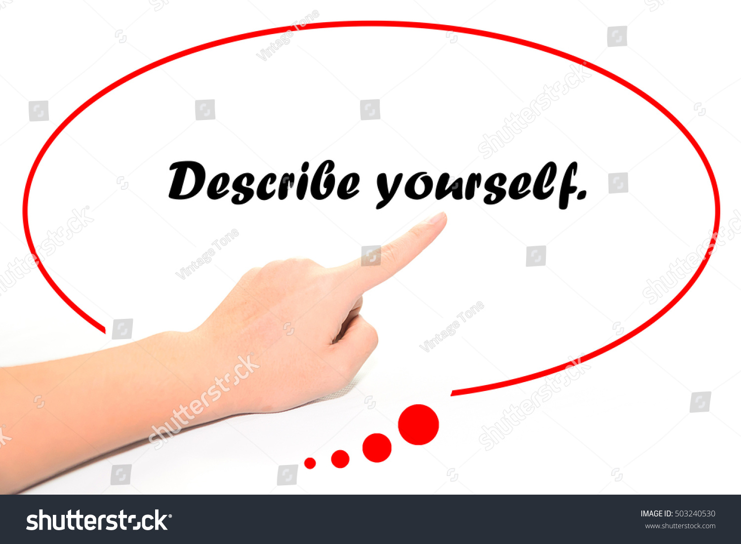 hand writing describe yourself finger pointing stock photo edit now rh shutterstock com How to Finger Yourself DIA Finger Yourself to Get Off