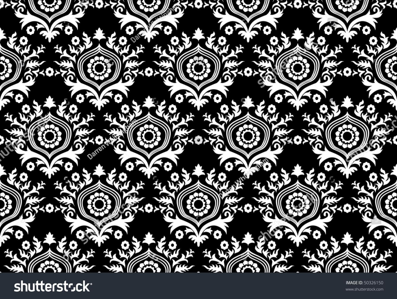 Unique Black And White Wallpaper Stock Photo 50326150