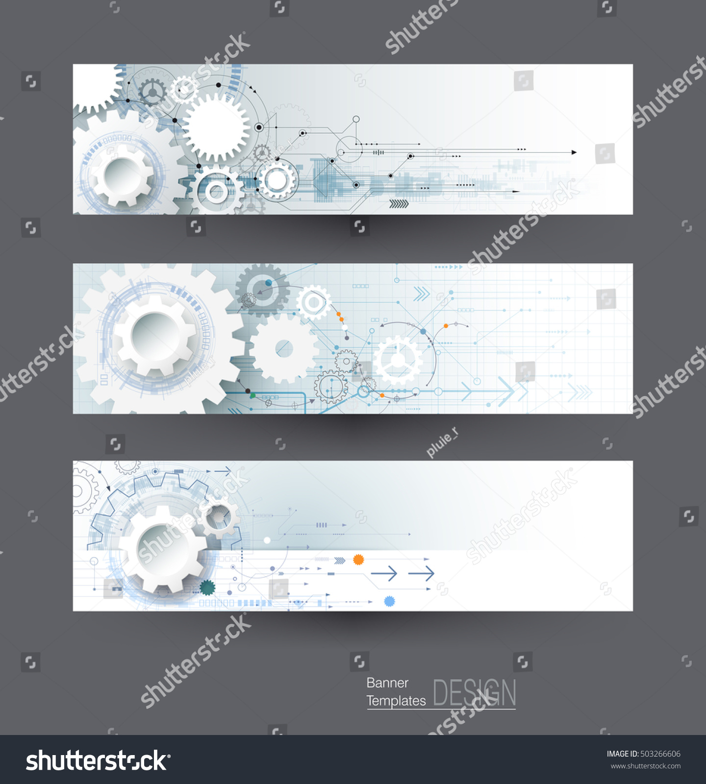 Vector Abstract Gear Wheel Circuit Board Stock Royalty Free Background Graphics All Web And Banners Set High Tech Technology Engineering
