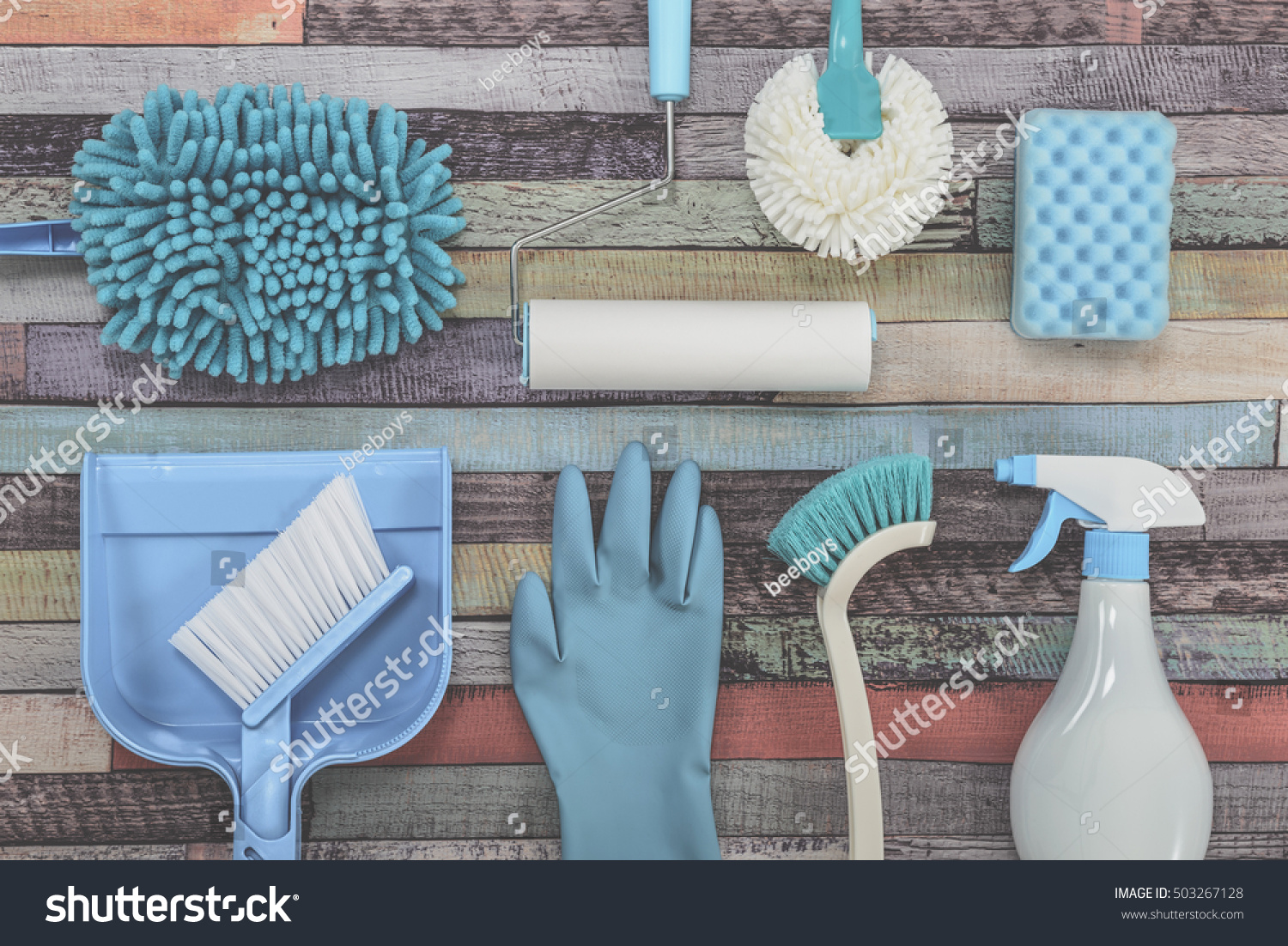 Cleaning Tool Woodgrain Table Stock Photo 503267128 Shutterstock