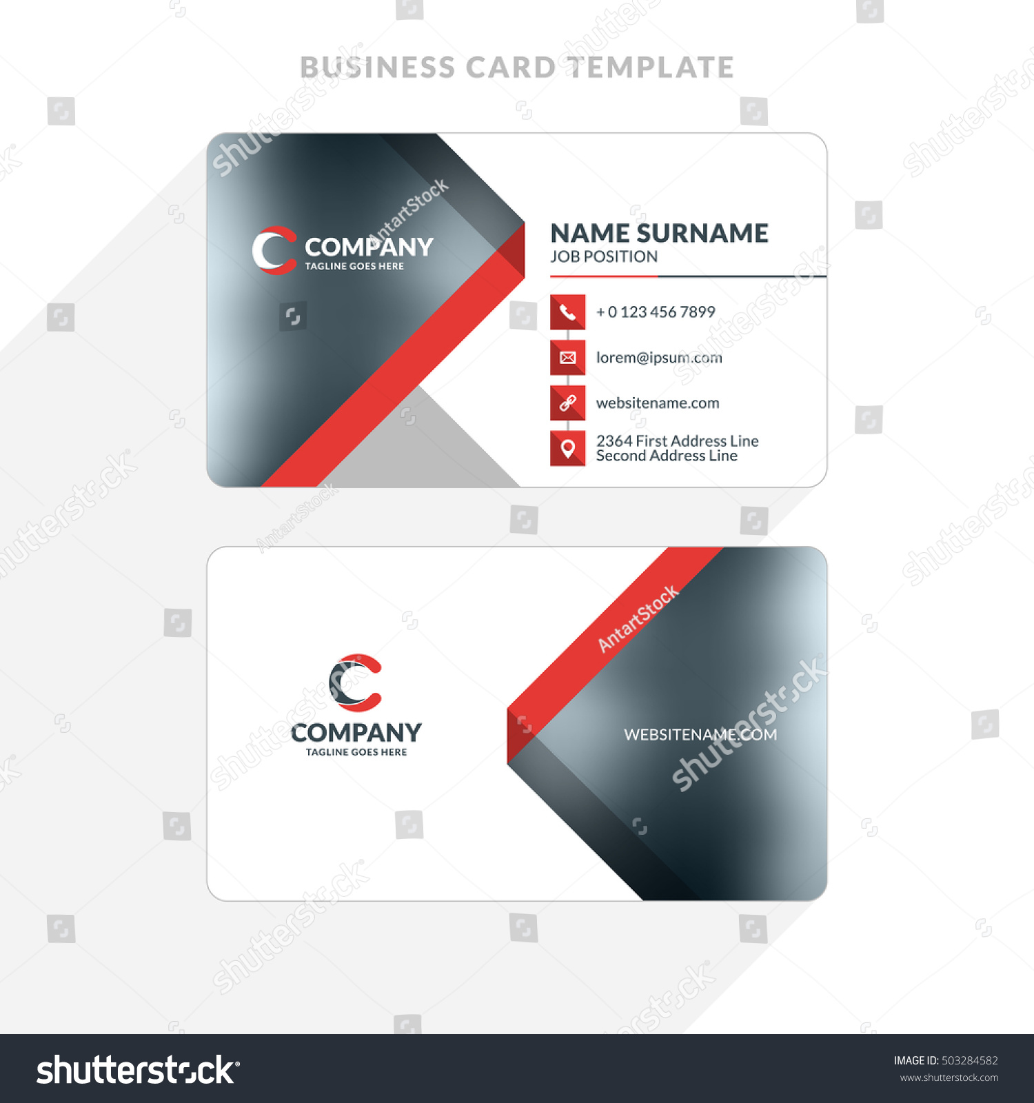 Sided Business Card Template Word Image Collections Templates - 2 sided business card template