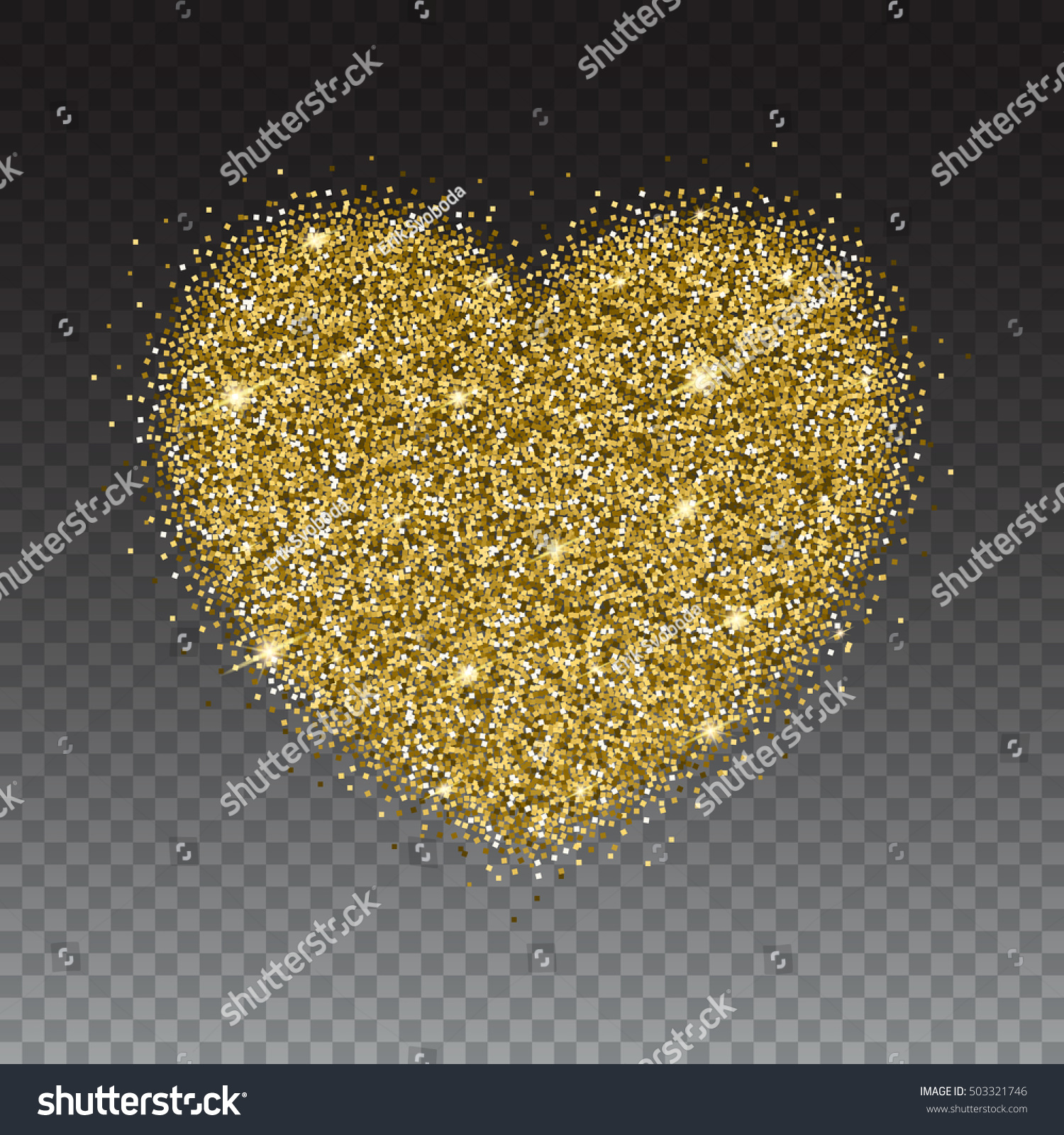 Gold glitter bright vector transparent background golden sparkles - Icon Of Heart With Gold Sparkles And Glitter Glow Light Bright Sequins Sparkle